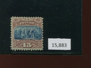 118 Landing Columbus Unused Grill Stamp with Crowe Cert (Stock 118 Cr A1)
