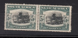 J28455, 1933-4 south africa #64 green & black perf 14 ox wagon $62.50 scv