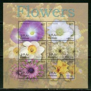 Maldives MNH S/S Soft Petal Flowers