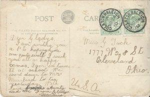 Colaton Raleigh, Great Britain Postal Card 1910, St. Nicholas Church