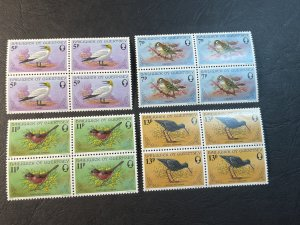 GUERNSEY # 165-168-MINT NEVER/HINGED--COMPLETE SET OF BLOCKS OF 4--1978