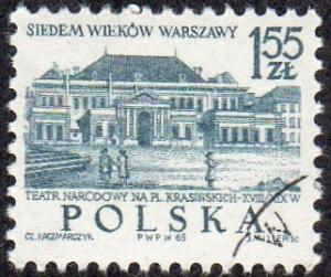 Poland 1340 - Used - 1.55z National Theater (1965) (2)