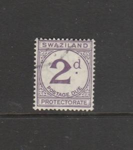 Swaziland 1933/57 Postage Due 2d Used SG D2/a, see note