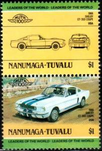 Antique Car, 1966 Shelby GT-350 Coupe, Tuvalu Nanumaga stamp SC#19 MNH