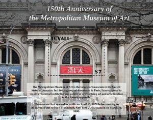 2020/12- TUVALU - METROPOLITAN MUSEUM 150TH    1V  complet set    MNH ** T