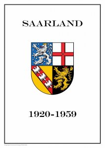 SAARLAND SAAR SARRE GERMANY 1920-1959 PDF (DIGITAL)  STAMP ALBUM PAGES