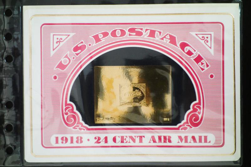 US 24k Gold Stamps Inverted Jenny