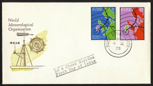 wc061 Ireland 1973 World Meteorological Organization FDC first day cover