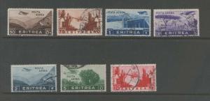 Eritrea Italian Colony 1924 Sc C8,C10-C13,C15-16 FU