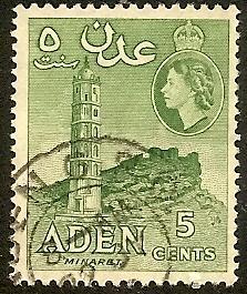 Aden  48 Used 1956 5c Minaret