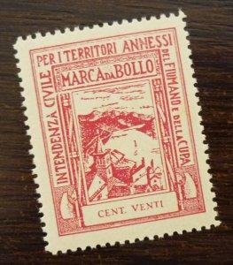 Fiume 1942 Croatia Italy Revenue Stamp CENT VENTI  C7