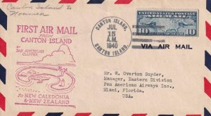 1940, 1st Flt., Canton Island to Noumea, New Caledonia, See Remark (41463)