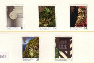 Great Britain Sc 1606-0 1995 Nat Trust stamp set mint NH