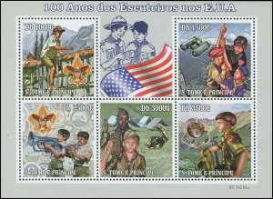 St. Thomas & Prince Islands 2010 Sc 2252 Scouts Flag CV $12.75
