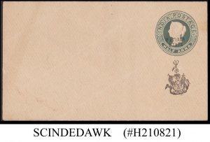 PATIALA INDIAN STATE - HALF ANNA QV ENVELOPE - OVPT - MINT