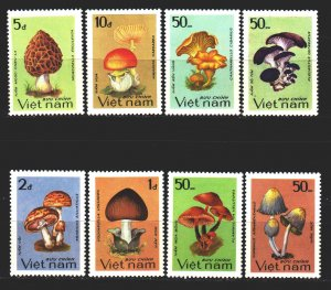 Vietnam. 1983. 1371-78. Mushrooms. MNH.