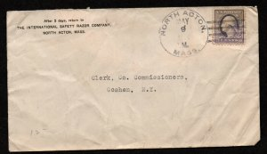 $North Acton Mass DPO 3 Sc#529 May 9, 1918 cover