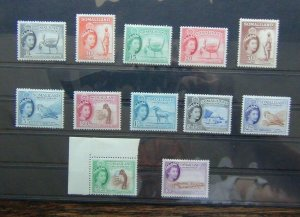 Somaliland Protectorate 1953 - 1958 to 10s LMM SG137 - SG148