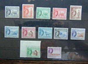 Somaliland Protectorate 1953 - 1958 to 10s LMM SG137 - SG148