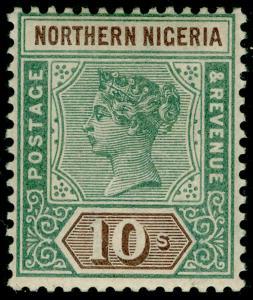 NORTHERN NIGERIA SG9, 10s green & brown, M MINT. Cat £325.