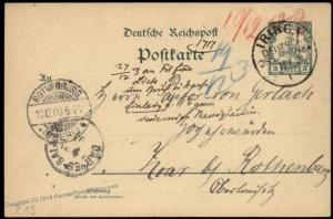 Germany 1903 East Africa MILOW DOA IRINGA Station Cover Stationery 87079