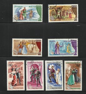Hungary Opera 1967 Scott# 1848-1855 Complete set Used