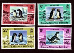 British Antarctic Territory 72-75 Mint NH MNH!