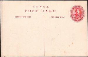 TONGA 1d pictorial postcard THE PALACE & CHAPEL Nukualofa - unused.........34092