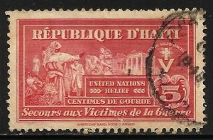 Haiti Postal Tax 1945 Scott# RA8 Used