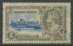 STAMP STATION PERTH British Guiana #223 Silver Jubilee VFU CV$0.25