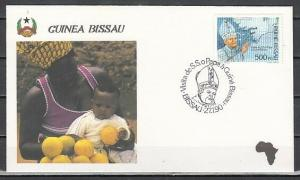 Guinea Bissau, Scott cat. 885 only. Pope John Paul II value. First day cover.