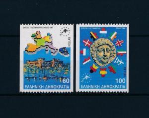 [47672] Greece 1988 Marine life Fish emblem Flags MNH