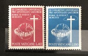 Vatican City 1967, #453-54, MNH, CV $.50
