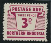 Northern Rhodesia  SG D7 SC# J7 MNH Postage Due 1963 - see details
