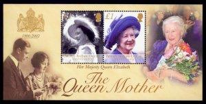 British Indian Ocean Territory Sc# 247 MNH Queen Mother (S/S)