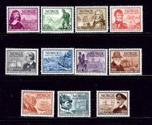 Norway 279-89 MNH 1947 set
