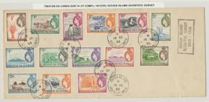 TRISTAN DA CUNHA 1955 GOUGH ISLAND SURVEY COVER WITH COMPLETE 1954 SET
