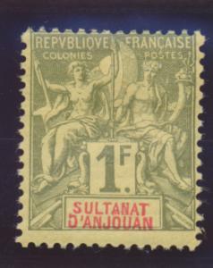 Anjouan Stamp Scott #19, Mint Hinged, Hinge Remnant - Free U.S. Shipping, Fre...