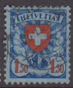 Switzerland Sc#202 Used Thinned