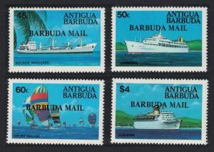 Barbuda Ships 4v SG#721-724