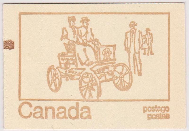 Canada - #BK69F 1971 Type III 25c Tagged HF Counter Booklet