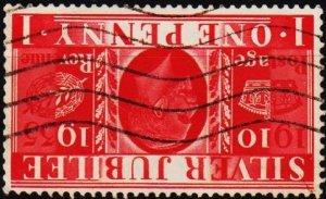Great Britain. 1935 1d Invert.Wmk) S.G.454wi Fine Used