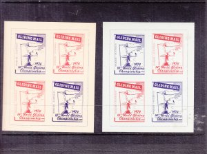 Waikeire, Australia: 14th World Glider Championship Labels, MNH (S18191)