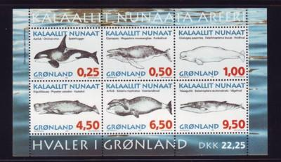 Greenland Sc 308a 1996 Whales stamp sheet mint NH