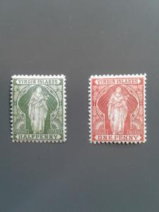 British Virgin Is. 21-22 F-VF MHR. Scott $ 10.25