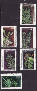 Philippines-Sc#1740-5-Unused NH set-Medicinal Plants-1985-