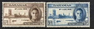 STAMP STATION PERTH Bahamas #130-131 Peace Issue Set  MH CV$0.50