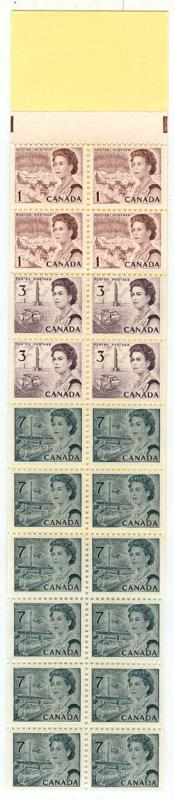 Canada USC #BK67 1971 Booklet Pane of 20 in Complete Booklet-VF-NH