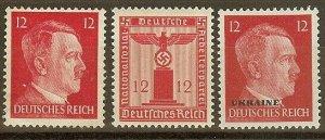 Stamp Selection Germany WWII Fascism Hitler Emblem Ukraine Franchise 12 MNG