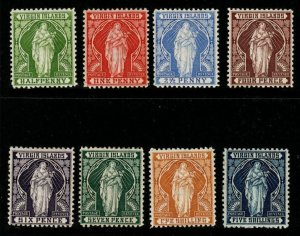 VIRGIN ISLANDS SG43/50 1899 DEFINITIVE SET MTD MINT(1d HAS TONE SPOT)